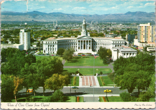 Visa of Civic Center from Capitol, Denver Colorado