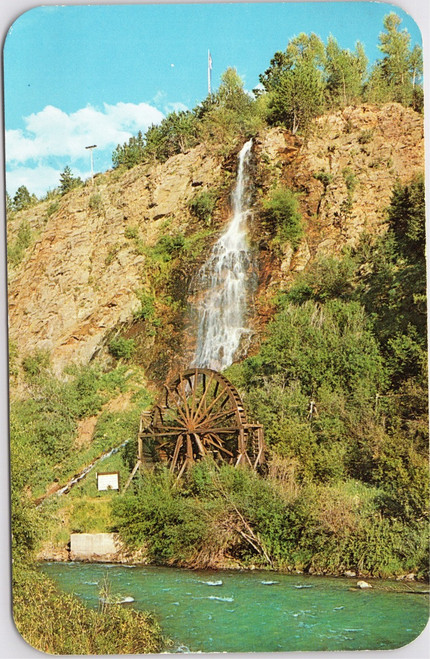 The Waterfall and Old Water Wheel at Clear Creek