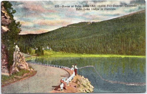 Fishing scene at Echol Lake, Denver Colorado
