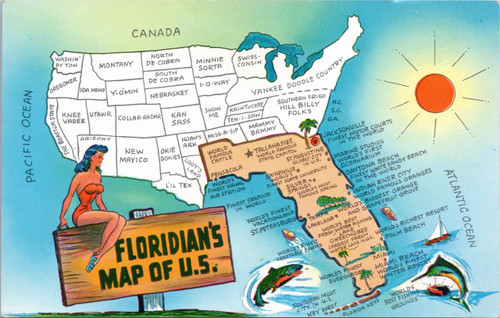 Floridian's Map of U.S.