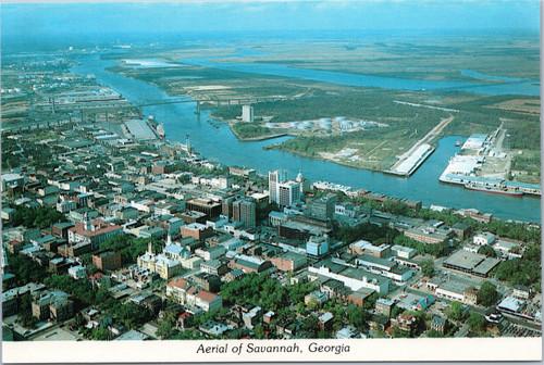 Aerial of Savannah, Georgia