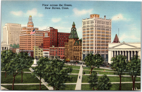 View Across the Green New Haven