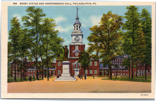 Barry Statue and Independence Hall