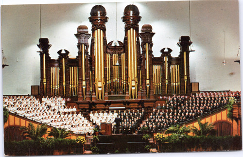 Interior of Mormon Tabernacle