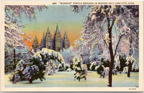 Mormon Temple Grounds in Winter