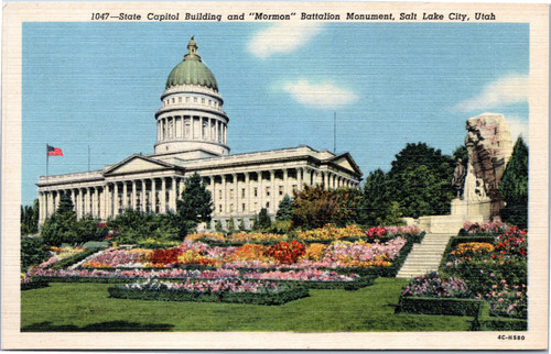 State Capitol Building and Mormon Battalion Monument