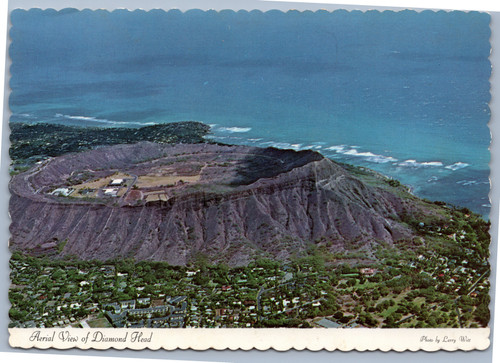 Aerial view of Diamond Head