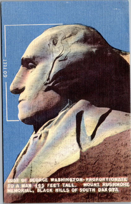 Bust of George Washington on Mt. Rushmore