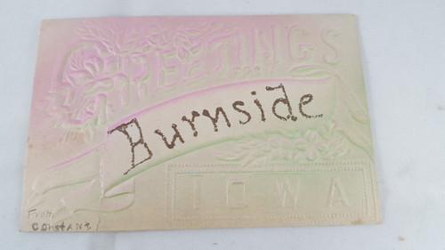 Greetings from Burnside Iowa