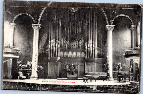 Warner Concert Hall, Organ and Stage