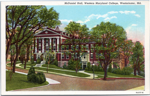 Western Maryland College - Main Building and McDaniel Hall