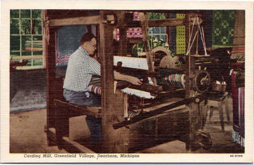 Greenfield Village -  Carding Mill