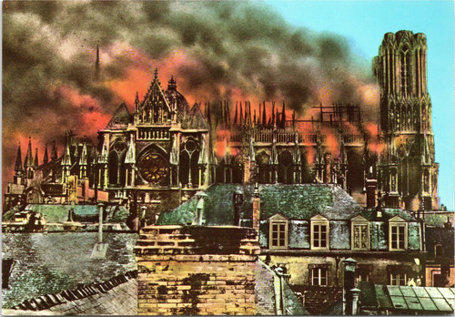 Reims Cathedral Fire