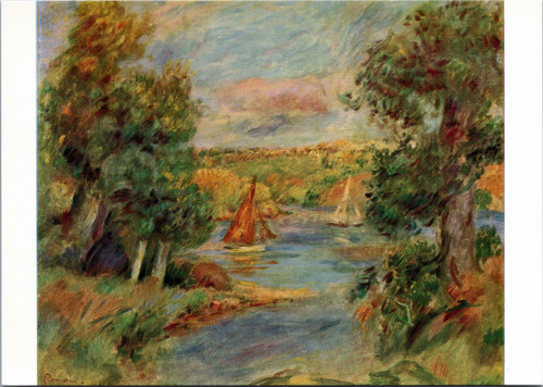 Sailboats in Cannes by Renoir