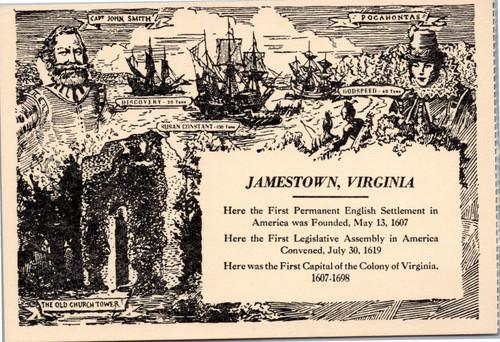 Jamestown souvenir postcard