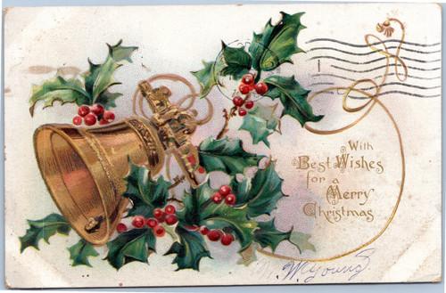 Tuck Holly Post Card