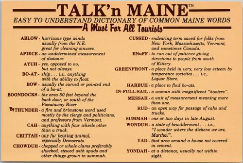 Maine Colloquialisms