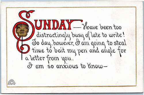 Busy Person's Letter - Sunday