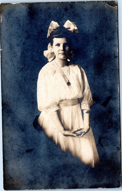 Young girl rppc