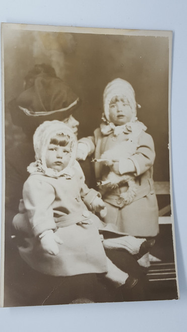 rppc woman toddlers