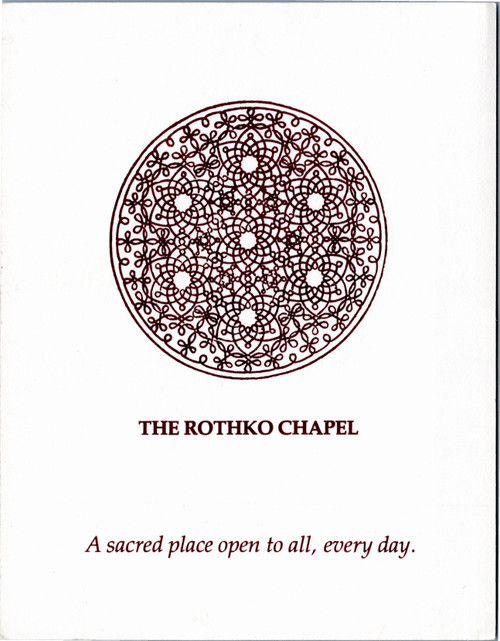 Rothko Chapel address and map card