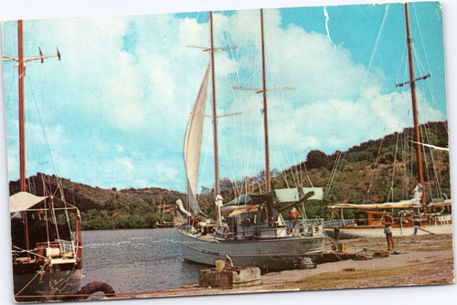 Yachts in English Harbor, Antigua West Indies