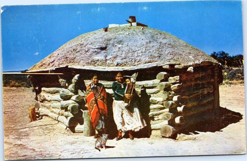 Navajos and Hogan