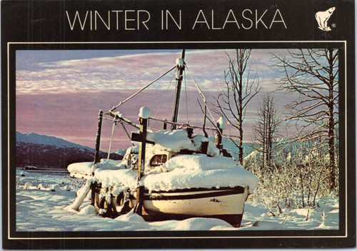 Alaska boat winter