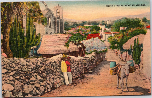 A Typical Mexican Village  (19-10-647)