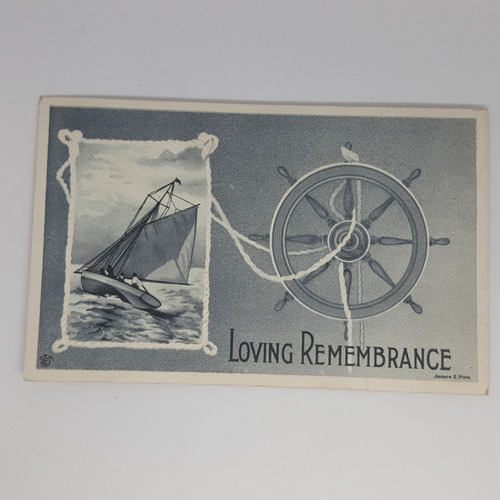 Loving Remembrance - Sailboat and helm - James E. Pitts
