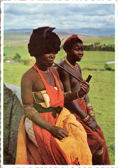 South African woman with pipe
