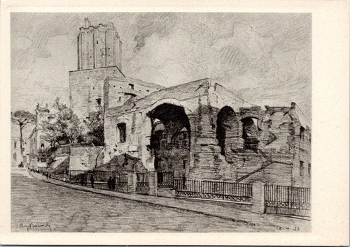 The Tower of the Militias and the Trajan Markets by A. Baracchi