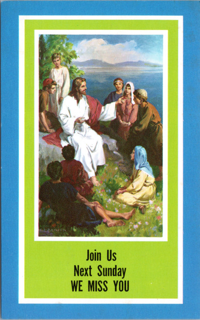 Religious - join us Sunday