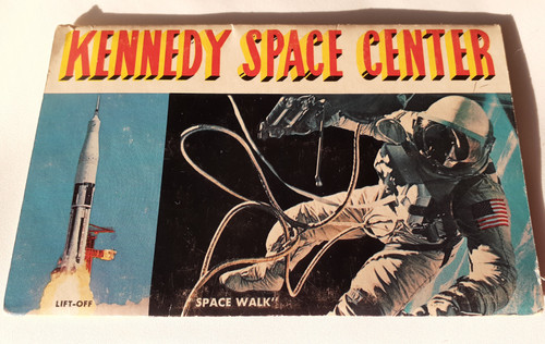 Kennedy Space Center - Space Port - fold - out postcard