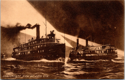 Steamboats on Lake Erie