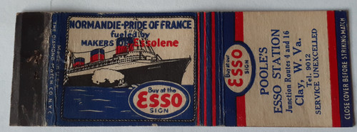 Poole's Esso Station - Normandie Pride of France - Clay, West Virginia