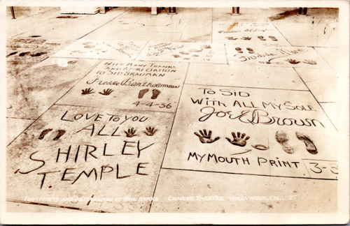 Shirley Temple Chinese Theatre prints
