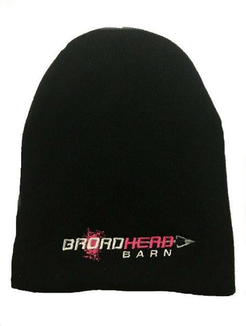 Beanie Broadhead Barn Pink/White Logo