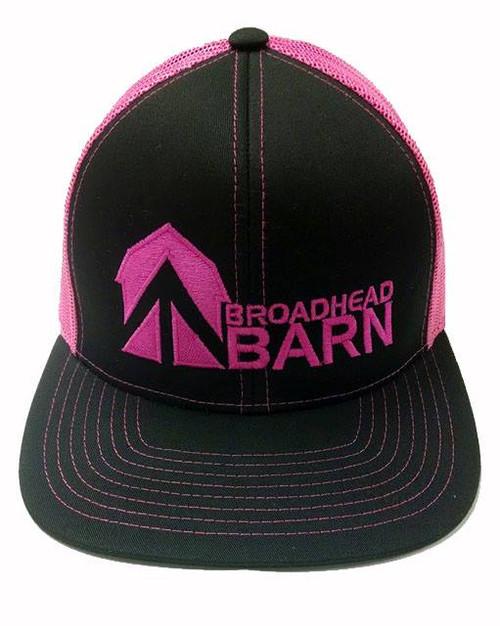 Broadhead Barn Black Front/Flo Pink Logo Cap