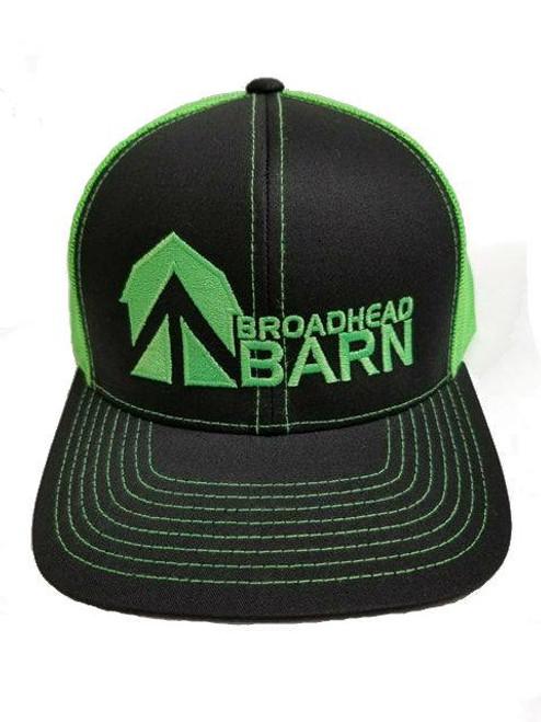 Broadhead Barn Black Front/Flo Green Logo Cap