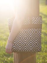 black and white pattern tote bag | Fair Anita