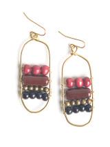 Desert Rose Ceramic Earrings