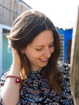 Maroon dangle earrings   Fair Anita