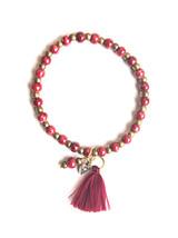 Amor Ceramic Tassel Bracelet