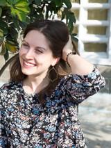 big black and gold hoop earrings | Fair Anita