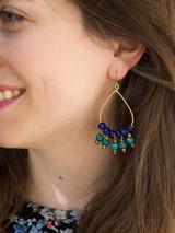 Dark blue dangle earrings | Fair Anita