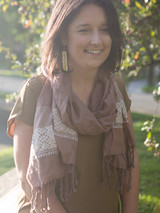 Light pink fair trade scarf | Fair Anita