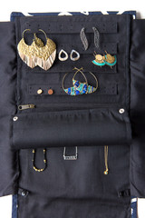 Wayfarer Jewelry Roll Travel Case - Diamond