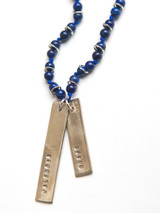 Brave Stamped Lapis Necklace | Fair Anita