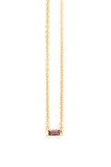 Prism Gold Necklace - Garnet